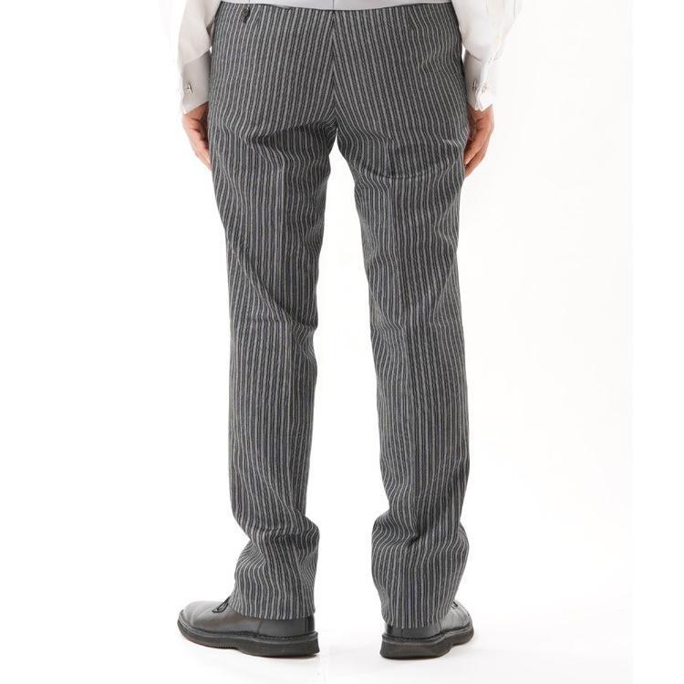 尾州素材のモーニングコートとSUPERTEXのノータックのアジャスター付き縞パンツの3点セットRM1824e1622 秋冬梅春向き|ghkwebshop|12