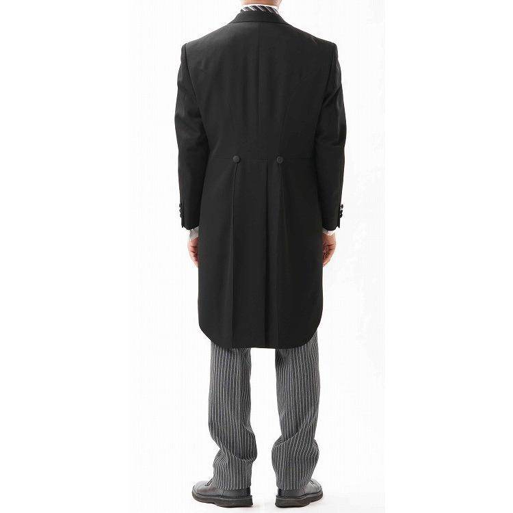 尾州素材のモーニングコートとSUPERTEXのノータックのアジャスター付き縞パンツの3点セットRM1824e1622 秋冬梅春向き|ghkwebshop|03