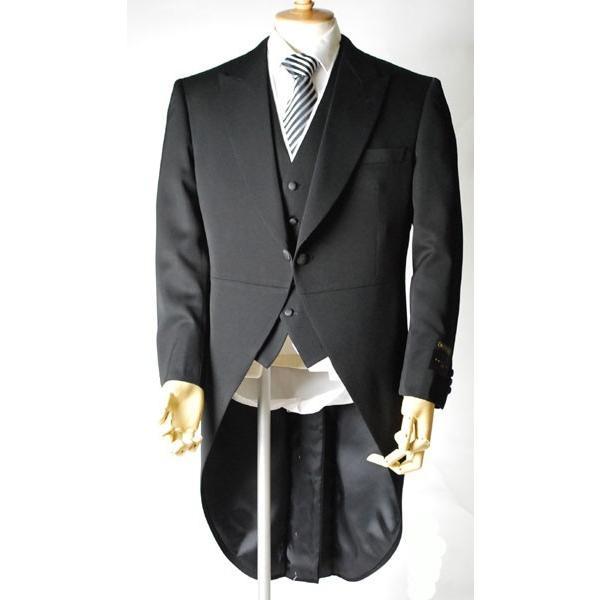 尾州素材のモーニングコートとSUPERTEXのノータックのアジャスター付き縞パンツの3点セットRM1824e1622 秋冬梅春向き|ghkwebshop|04