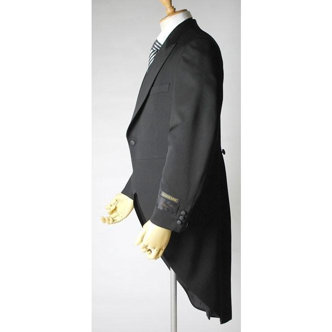 尾州素材のモーニングコートとSUPERTEXのノータックのアジャスター付き縞パンツの3点セットRM1824e1622 秋冬梅春向き|ghkwebshop|05