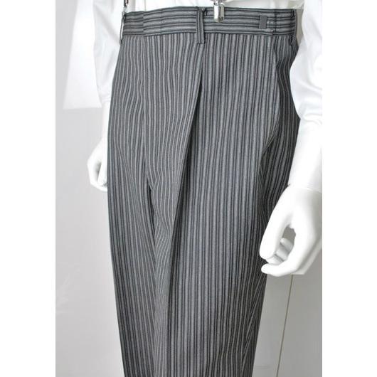 尾州素材のスリムなモーニングコート&ベストとSupertexのワンタックの縞パンツの3点セットRM1826-E1822|ghkwebshop|13