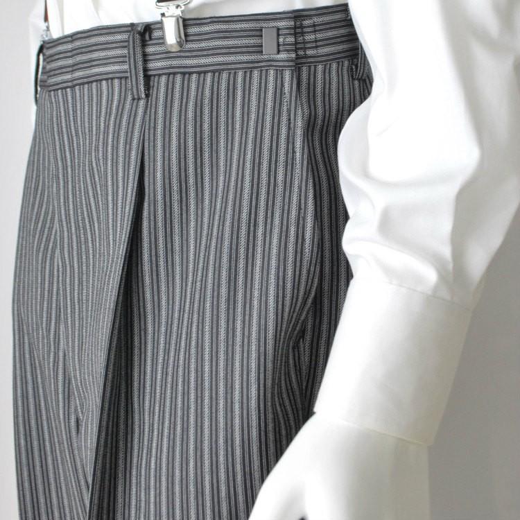 尾州素材のスリムなモーニングコート&ベストとSupertexのワンタックの縞パンツの3点セットRM1826-E1822|ghkwebshop|14
