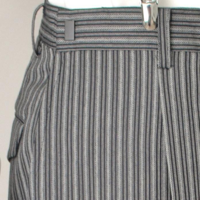 尾州素材のスリムなモーニングコート&ベストとSupertexのワンタックの縞パンツの3点セットRM1826-E1822|ghkwebshop|15