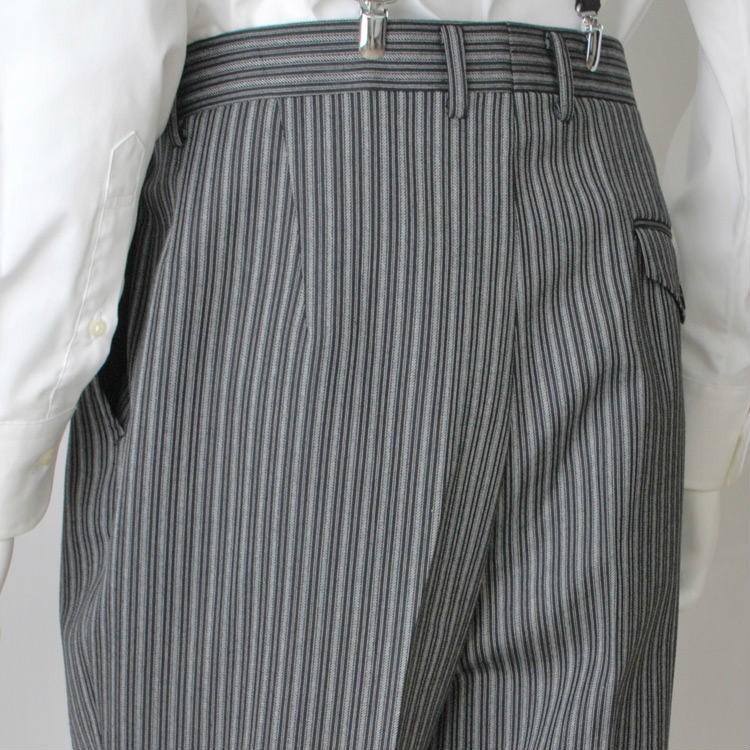 尾州素材のスリムなモーニングコート&ベストとSupertexのワンタックの縞パンツの3点セットRM1826-E1822|ghkwebshop|16