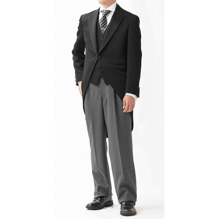 尾州素材のスリムなモーニングコート&ベストとSupertexのワンタックの縞パンツの3点セットRM1826-E1822|ghkwebshop|03