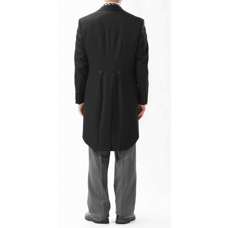 尾州素材のスリムなモーニングコート&ベストとSupertexのワンタックの縞パンツの3点セットRM1826-E1822|ghkwebshop|04