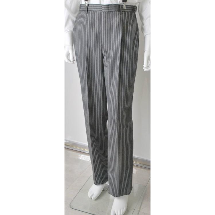 尾州素材のスリムなモーニングコート&ベストとSupertexのワンタックの縞パンツの3点セットRM1826-E1822|ghkwebshop|08