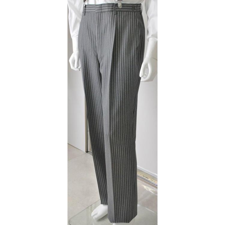 尾州素材のスリムなモーニングコート&ベストとSupertexのワンタックの縞パンツの3点セットRM1826-E1822|ghkwebshop|09