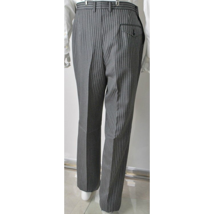 尾州素材のスリムなモーニングコート&ベストとSupertexのワンタックの縞パンツの3点セットRM1826-E1822|ghkwebshop|10