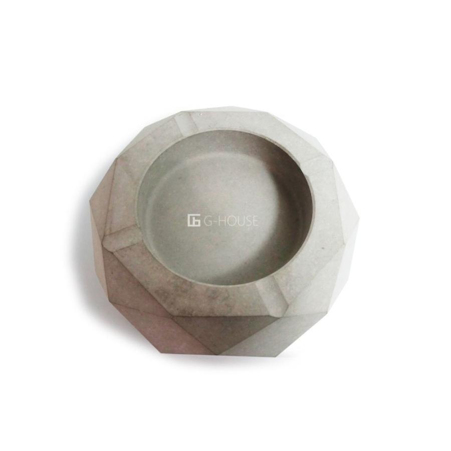 高級 おしゃれ モダン アート デザイン スタイリッシュ コンクリート セメント製 ハンドメイド 灰皿 品番:GMS01223(S)|ghouse-ystore|02