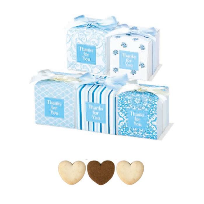 プチギフト 結婚式 2次会 イベント 景品 お返し ギフト 粗品★サムシングブルー in Cake Box 1個|gift-bellsimple