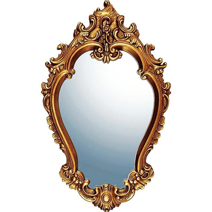 鏡 ミラー おしゃれ かわいい かわいい |グレース アート ミラー 「アリストクラシー(アンティークゴールド)」 壁掛用 GM-20012
