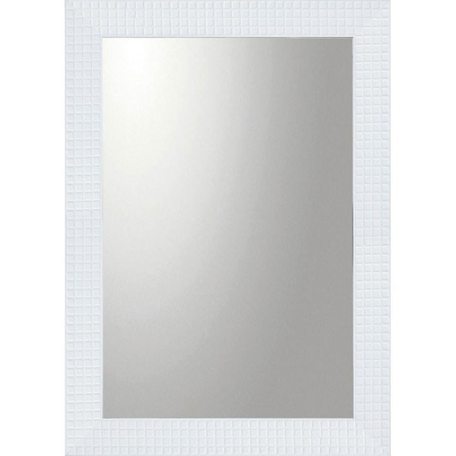 鏡 ミラー おしゃれ かわいい |デコラティブ 大型ミラー 大型ミラー タイル 「長方形(ホワイト)」 壁掛用 BM-20022