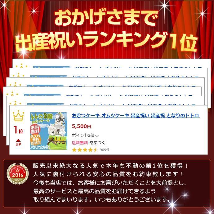 おむつケーキ オムツケーキ となりのトトロ 出産祝い 名前入り 3段 バスタオル おむつケーキ gift-one 02