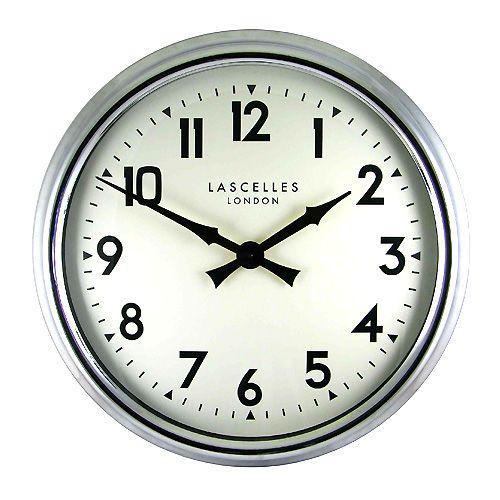 ロジャー / ラッセル 英国製クローム掛け時計 ( 大型 ) ブランド 海外 おしゃれ クロック