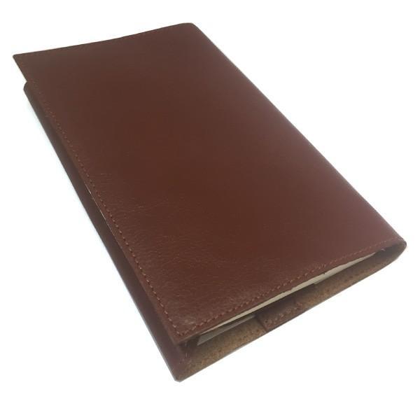 牛本革ブックカバー セミベジタブルタンド 新書サイズ 高級レザーが嬉しい 落ち着いたブラウンが素敵 読書の秋に贈り物|gift-trine-pro|02