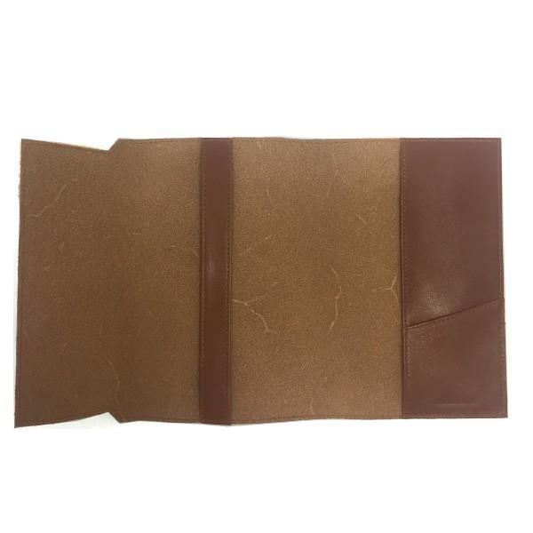 牛本革ブックカバー セミベジタブルタンド 新書サイズ 高級レザーが嬉しい 落ち着いたブラウンが素敵 読書の秋に贈り物|gift-trine-pro|04