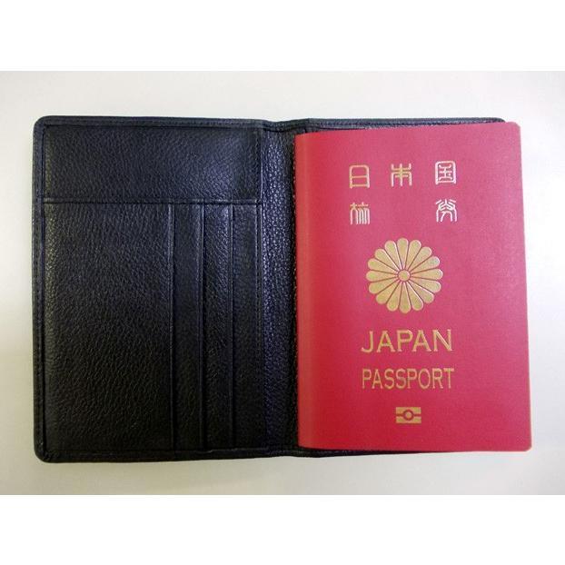 ソフトナッパ革(しなやか牛本革) パスポートケース ブラック 高品質 プレゼントにも カード入れ トラベル 旅行 海外 カバー おしゃれ|gift-trine-pro|07