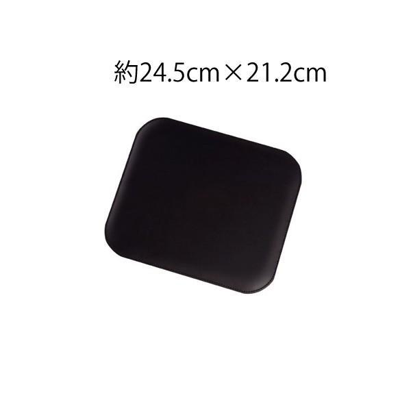 スムース牛本革 エグゼクティブマウスパッド 高品質 シンプル おしゃれ シックなブラック 記念品やプレゼントにも オフィスワークに gift-trine-pro 04