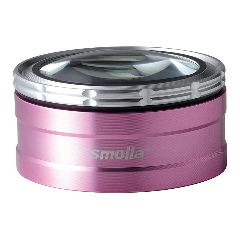 卓上ルーペ 3R 充電式 LED付 倍率調整可 スモリア ペーパーウエイト 3R-SMOLIA-TZC ピンク (ギフト対応不可)(送料無料)