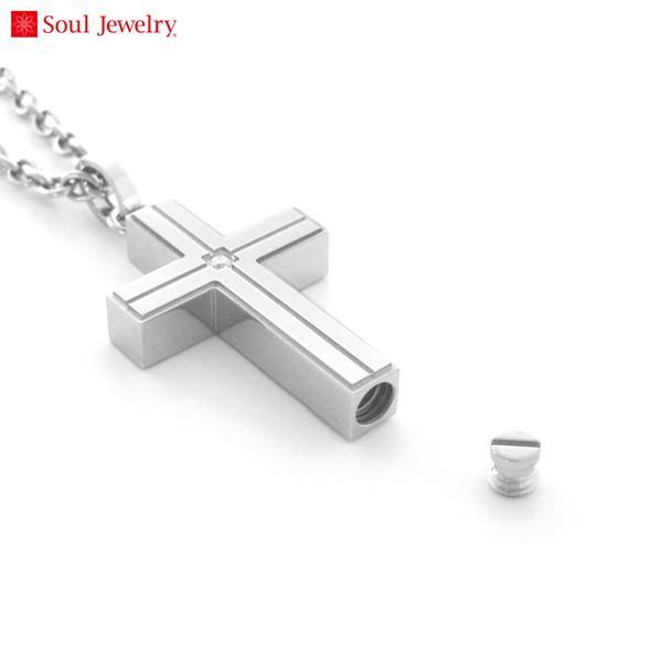 遺骨ペンダント Soul Jewelry(ソウルジュエリー) ラインクロス(プレーン)/ステンレス316L/メンズ | 手元供養 骨壺 納骨 遺骨 ペンダント アクセサリー|giftnomori|02