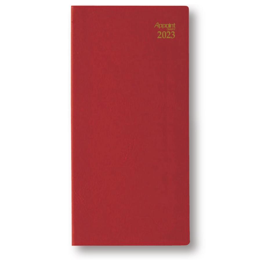 ダイゴー 2022年1月始まり E1013  月曜日始まり アポイントダイアリー 手帳レッド 1ヶ月横罫|giftnomura