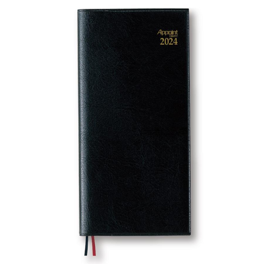 ダイゴー 2022年1月始まり E1308  月曜日始まり アポイントダイアリー 手帳ブラック 1週間+横罫|giftnomura