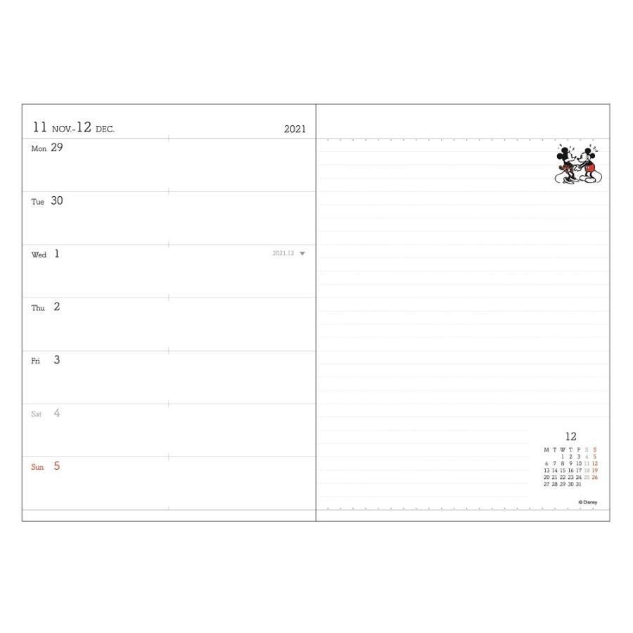 ダイゴー 2022年1月始まり ディズニー Disney Diary B6 ウィークリー ミッキー ブラック E6160|giftnomura|04