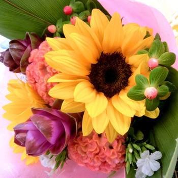 ギフト 果物 詰め合わせ 生花付き 空 フルーツギフト フラワーギフト ハロウィン フルーツ盛り合わせ 花束 送料無料 kt giftpark 05