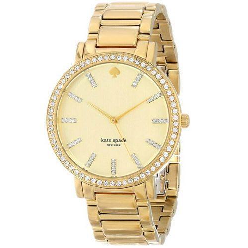 高い品質 KATE SPADE NEW YORK ケイトスペード ニューヨーク 1yru0358 Large Pave Crystal Markers グラマシー ゴールド レディース 腕時計, Leciel Style 7dcba62d