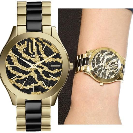 【当店限定販売】 MK3315 Slim Runway Zebra スリムランウェイ ゼブラ アニマル柄 レディース 腕時計 マイケルコース, 2nd STREET 182de3c6