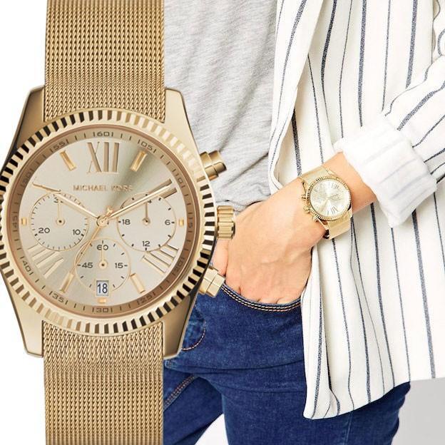 【返品交換不可】 MICHAEL KORS マイケルコース mk5938 Lexington レキシントン メッシュバンド シャンパンゴールド レディース 腕時計, アサクラグン 88fc1bf2