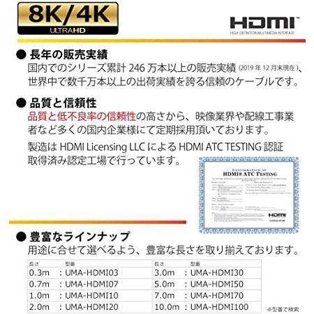 Hanwha HDMIケーブル 5m 細線 4.2mm Ver2.0b スーパースリム ハイスピード 8K 4K 2K対応 UMA-HDMI50 giga-life 02
