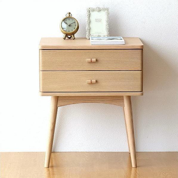 サイドチェスト 木製 ベッドサイドテーブル ソファサイドテーブル ナイトテーブル 天然木 ナチュラル 収納 おしゃれ かわいい シンプル スタイリッシュチェスト