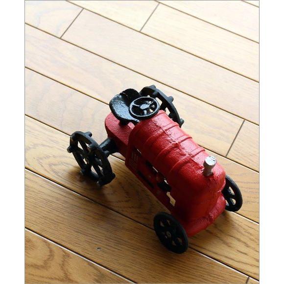 置物 置き物 車 インテリアオブジェ レトロ アイアン雑貨 赤いトラクターのオブジェ gigiliving 02