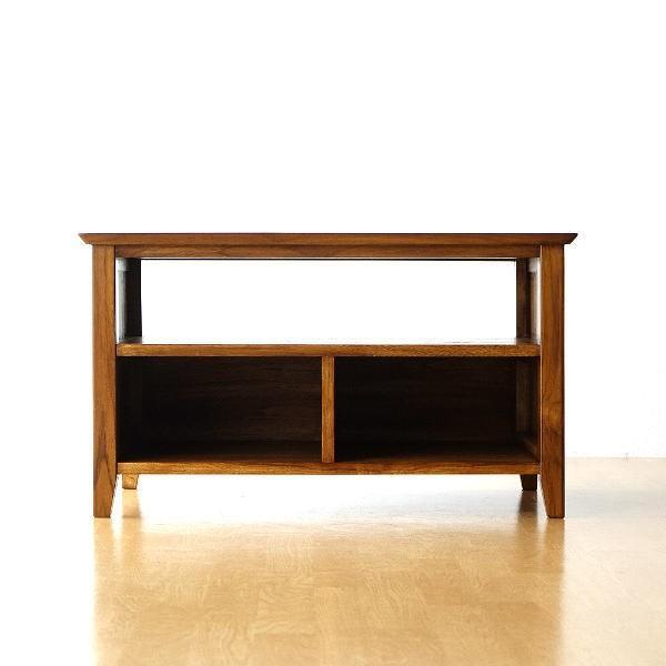 テレビ台 コンパクト テレビボード 収納 おしゃれ 木製 無垢 アジアン家具 完成品 チークローボード80B gigiliving