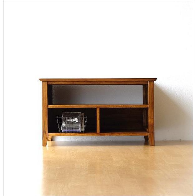 テレビ台 コンパクト テレビボード 収納 おしゃれ 木製 無垢 アジアン家具 完成品 チークローボード80B gigiliving 06