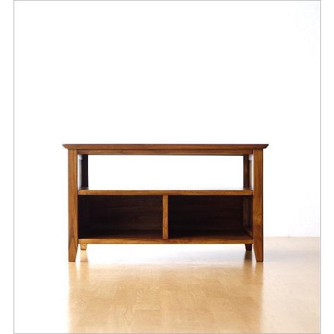テレビ台 コンパクト テレビボード 収納 おしゃれ 木製 無垢 アジアン家具 完成品 チークローボード80B gigiliving 07