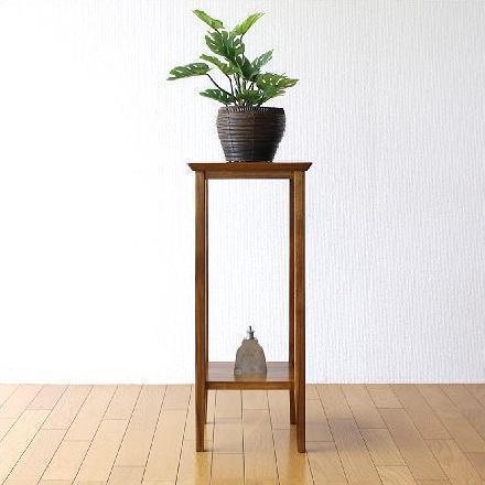 花台 木製 フラワースタンド 玄関 リビング おしゃれ 花瓶台 鉢 観葉植物 置き台 飾り台 無垢材 天然木 チーク花台70