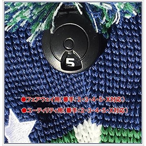 ブルーティーゴルフ BLUE TEE GOLF California USA フラッグ Ver,3 スマイル 4本セット ニット ヘッドカバ