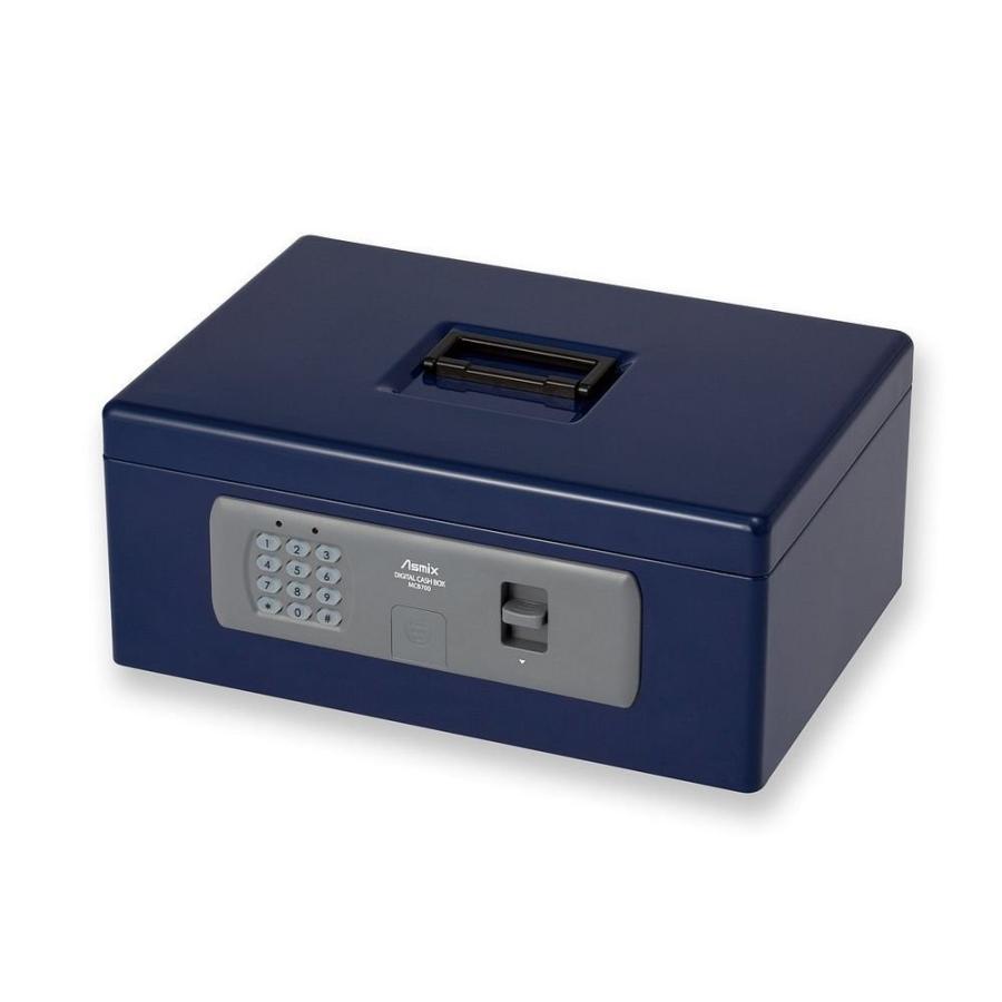(まとめ買い) アスカ Asmix デジタル手提金庫 書類A4サイズ収納 デジタルロック MCB700 ×3