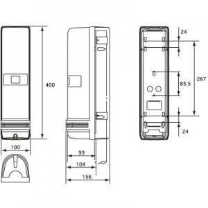 OPTEX 屋外用アクティブセンサー 長距離·汎用型 100m線警戒 AX-100TII(J)