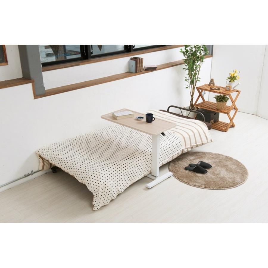 永井興産 ガス圧昇降テーブル NA 商品サイズ:幅80×奥行40×高さ65~95cm INES(アイネス) INES(アイネス) ガス圧 昇降テーブル NK-51