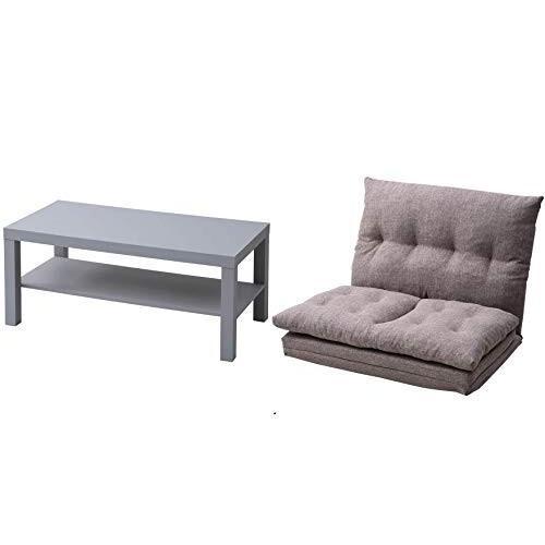 セット買い山善 コーヒーテーブル(90×45cm) ライトグレー TCT-9045(LGY)+ソファベッド 背部14段階リクライニング機能 背部14段階リクライニング機能