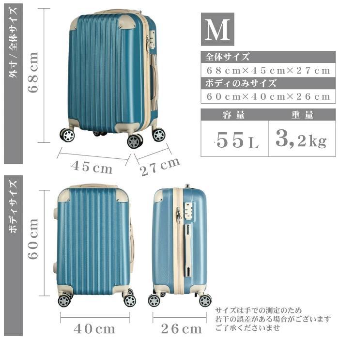 スーツケース キャリーバッグ Mサイズ 中型  かわいい 軽量 Basilo-019 おしゃれ かわいい レディース キャリーケース コロナ 入院 療養 gingam-bag 02