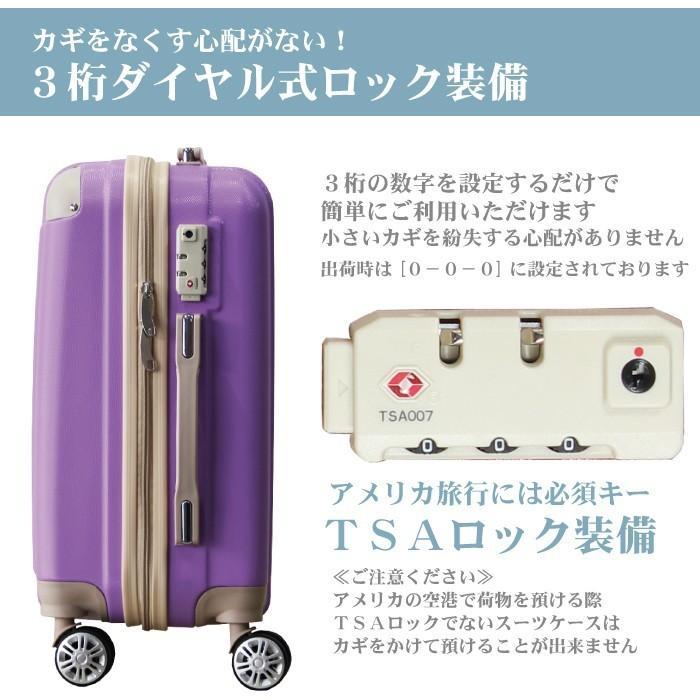 スーツケース キャリーバッグ Mサイズ 中型  かわいい 軽量 Basilo-019 おしゃれ かわいい レディース キャリーケース コロナ 入院 療養 gingam-bag 04
