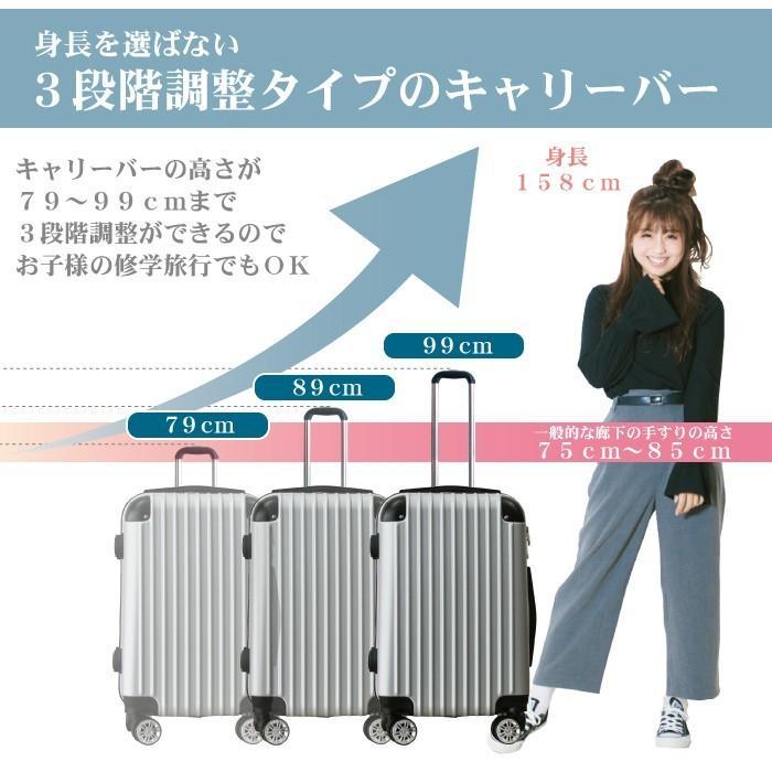 スーツケース キャリーバッグ Mサイズ 中型  かわいい 軽量 Basilo-019 おしゃれ かわいい レディース キャリーケース コロナ 入院 療養 gingam-bag 06