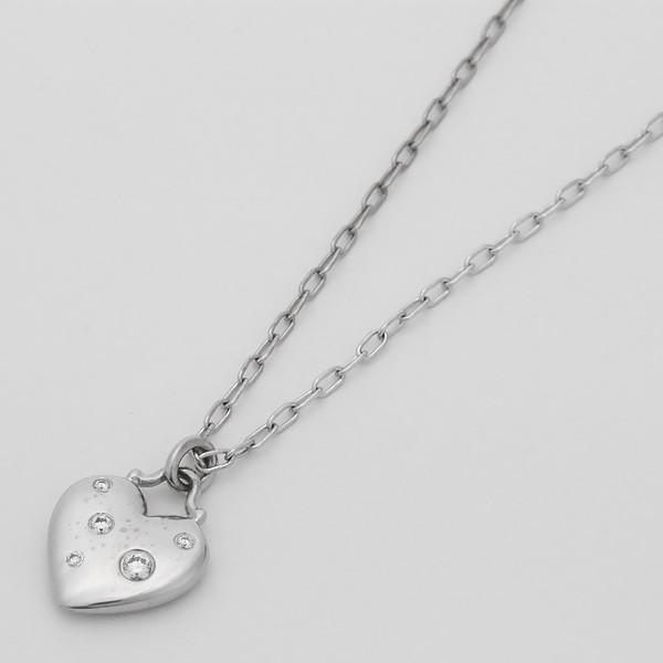 新品仕上げ TIFFANY&CO. ティファニー センチメンタルハート ネックレス K18WG/750WG/ホワイトゴールド×ダイヤモンド ginkura 02