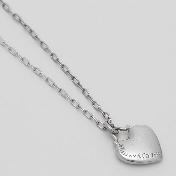 新品仕上げ TIFFANY&CO. ティファニー センチメンタルハート ネックレス K18WG/750WG/ホワイトゴールド×ダイヤモンド ginkura 03