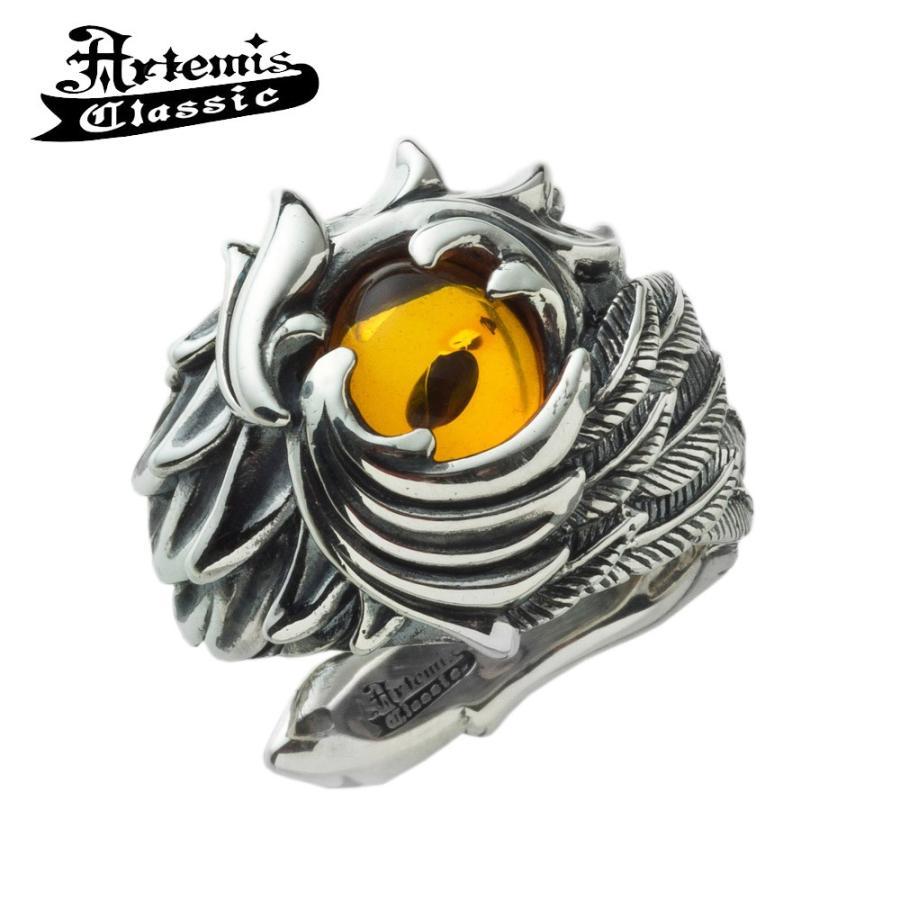 激安単価で アルテミスクラシック シルバー フェニックス リング メンズ リング ブランド 指輪 シルバー フェニックス ワイド 琥珀 フリーサイズ Artemis Classic 人気, DORUTHY:a5669357 --- airmodconsu.dominiotemporario.com